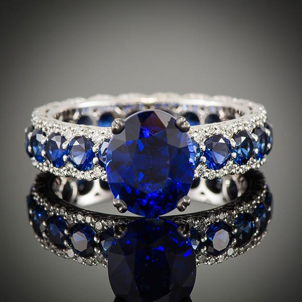 Robert Pelliccia Romancina Oval Sapphire & Diamond Ring