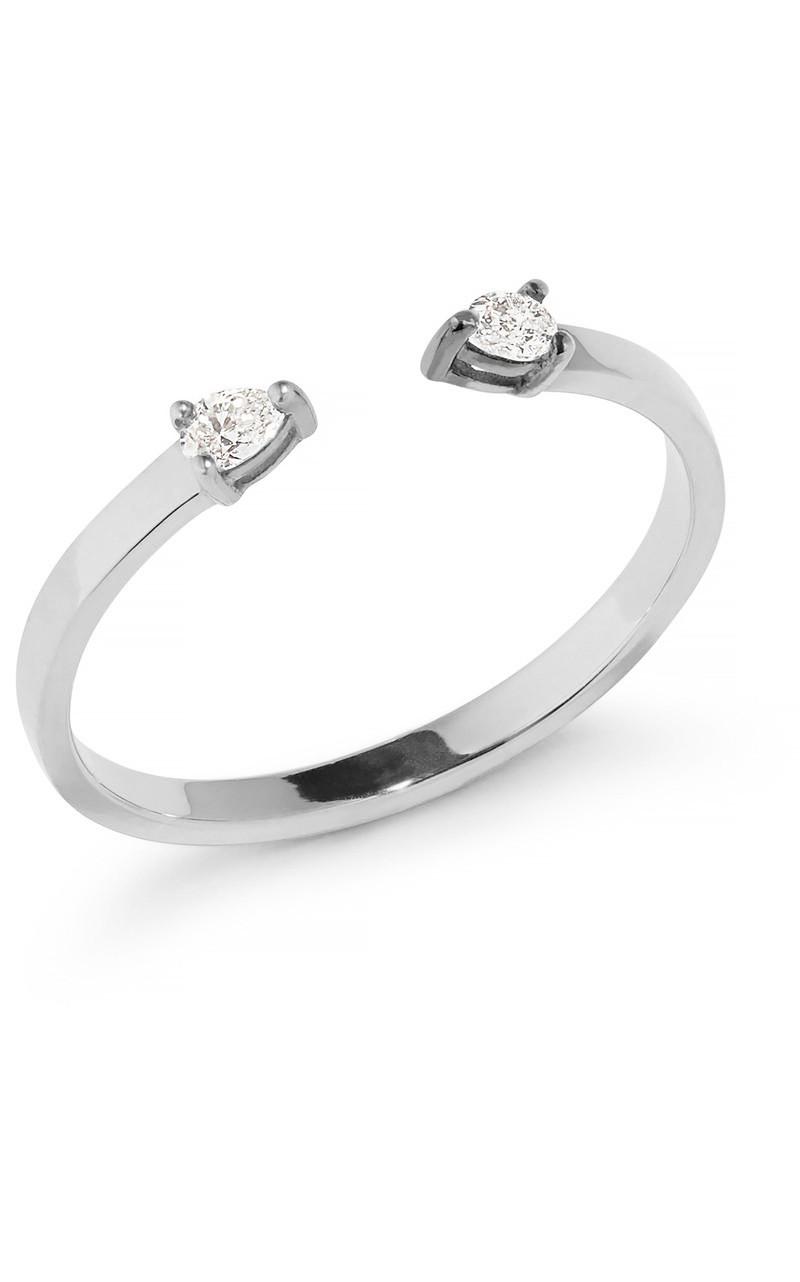 Lana Pear Diamond Open Ring in White Gold Size 7