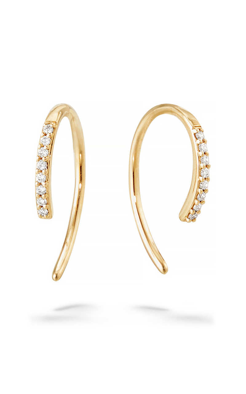 Lana Hooked on Diamond Hoop Earrings in 14K Gold front