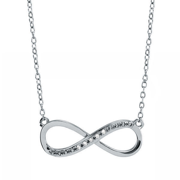 Rose Gold Infinity Necklace with Diamonds