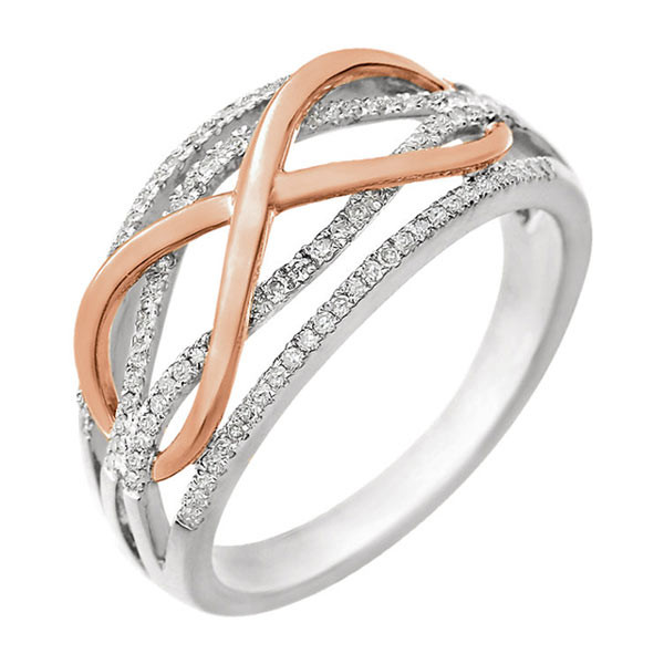 Two Done Diamond Infinity Ring