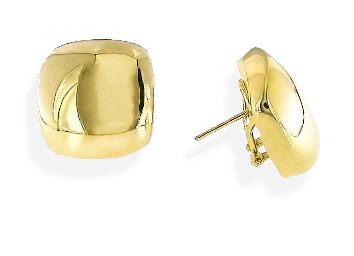 Roberto Coin Gold Square Earrings