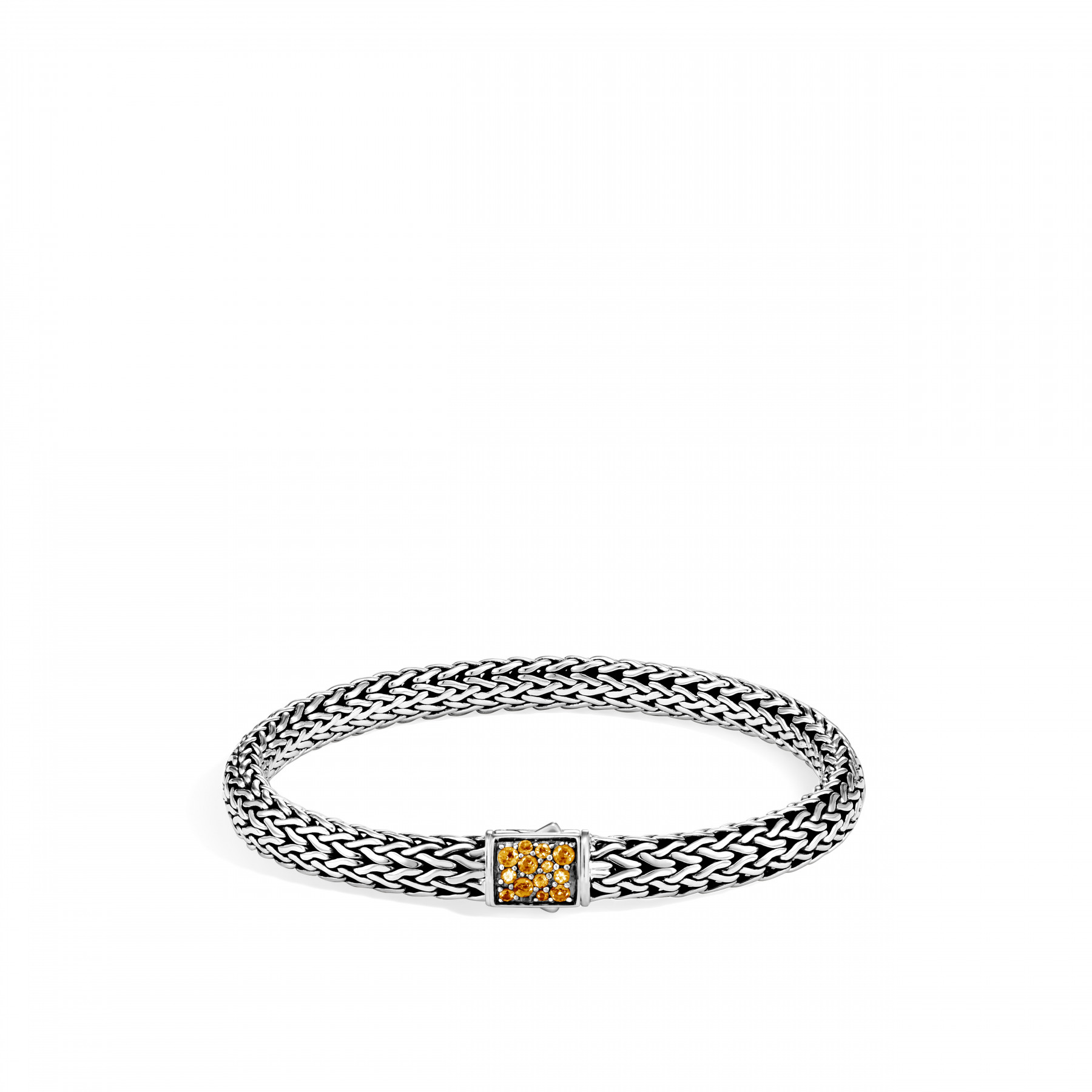 John Hardy Classic Chain Diamond and Citrine Reversible Bracelet - 6.5MMfront image