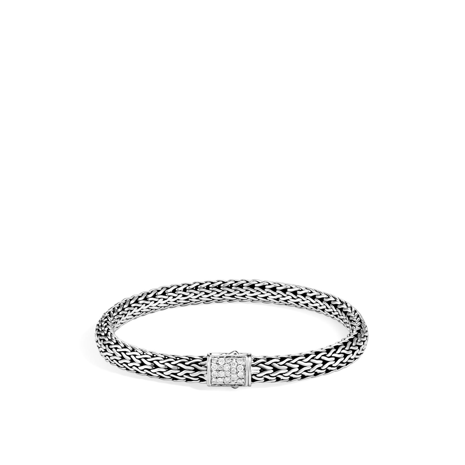 John Hardy Classic Chain Diamond and Aquamarine Bracelet - 6.5MM front image