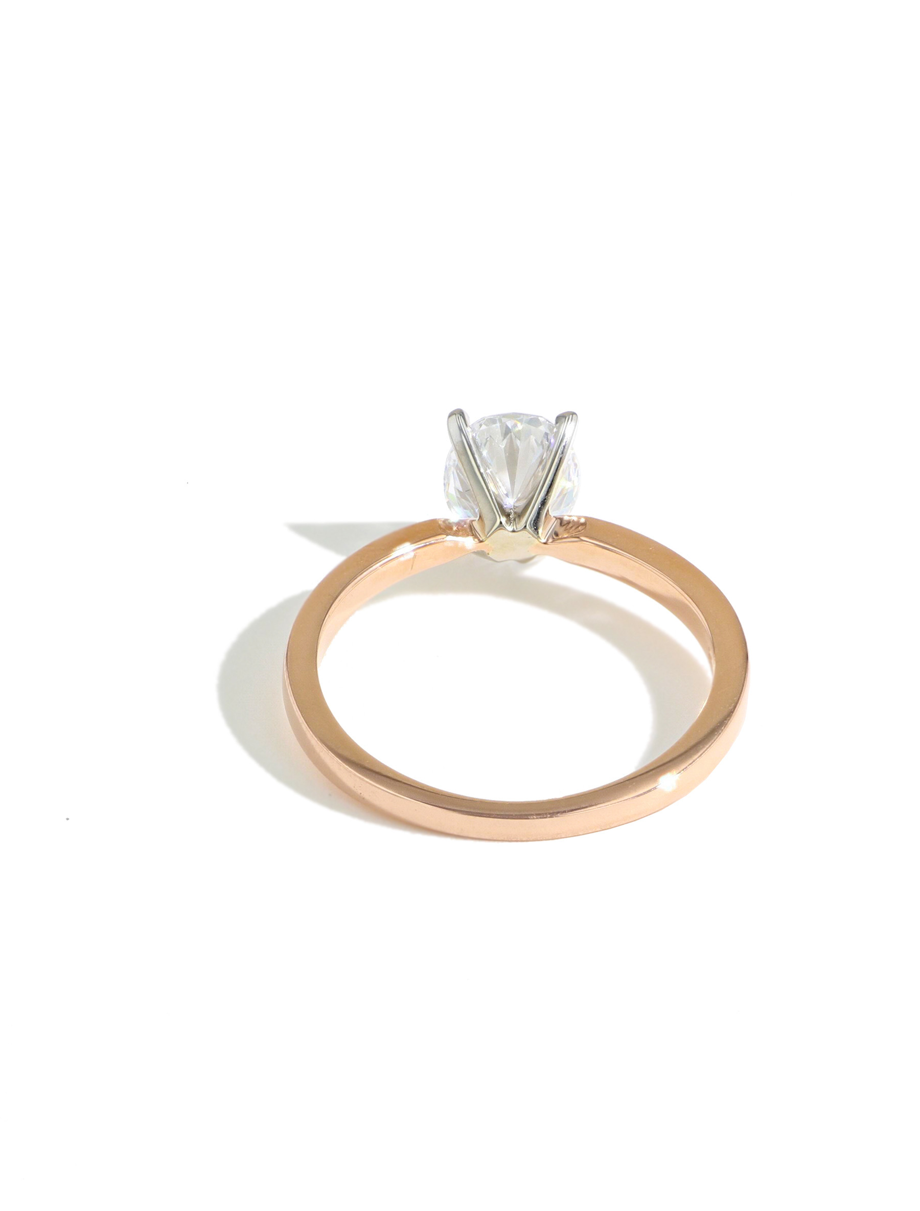 MARS Oval Solitaire Engagement Ring Setting