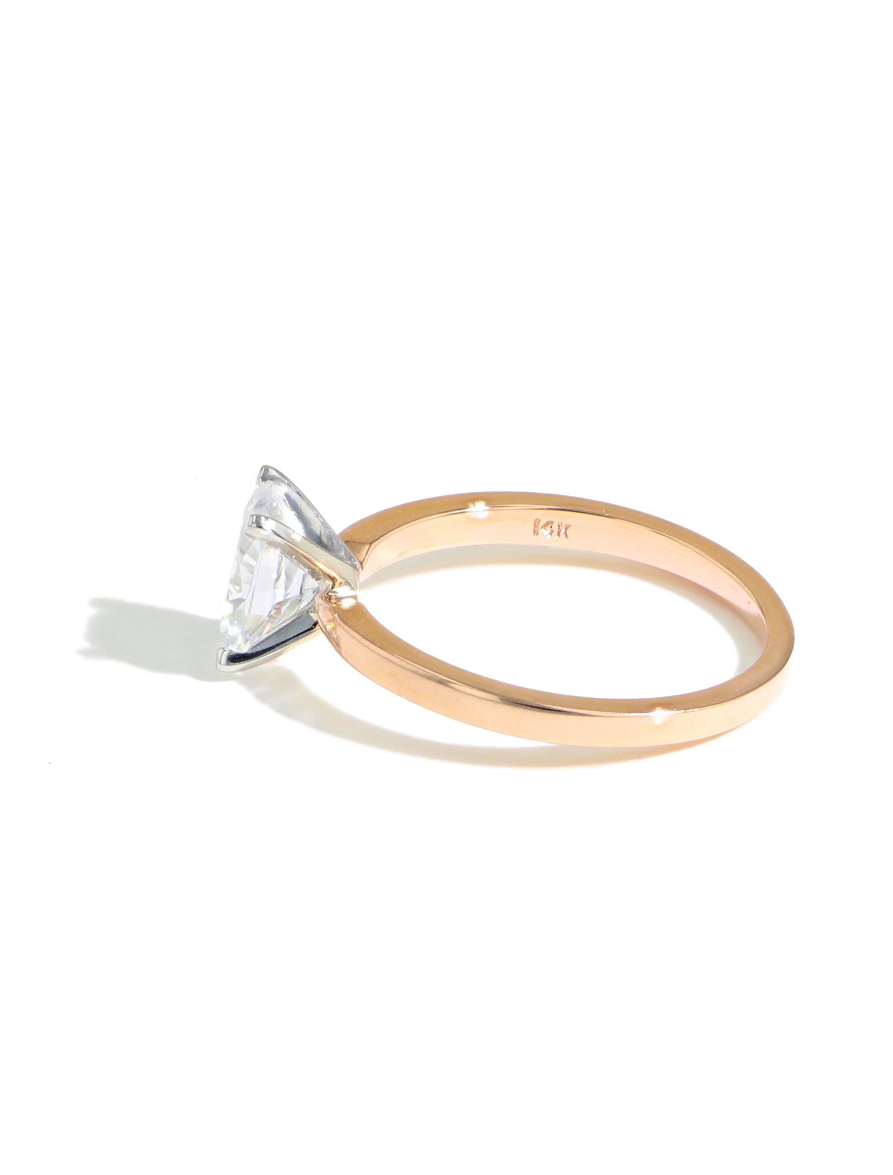 MARS Oval Solitaire Engagement Ring Setting side view