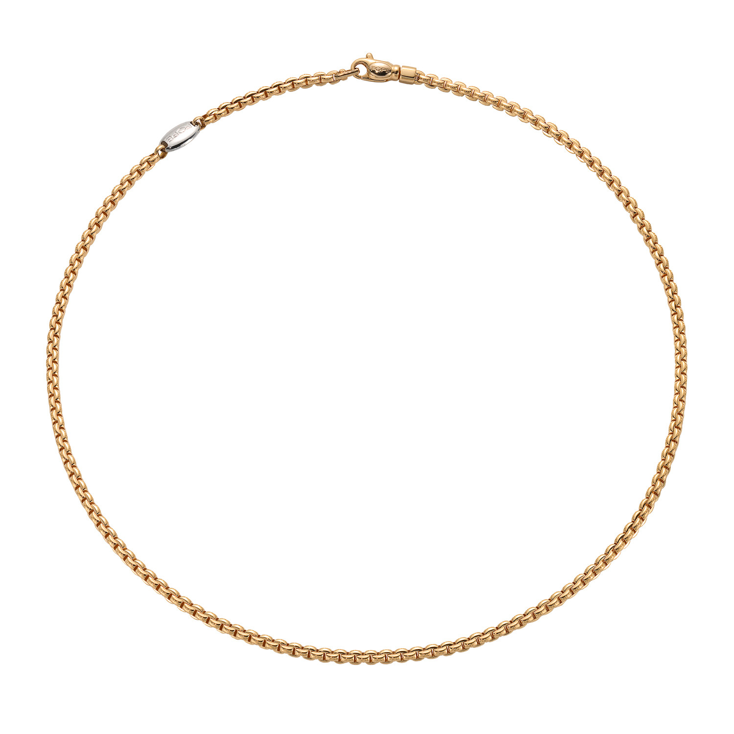 Fope Small EKA Yellow Gold Link Necklace