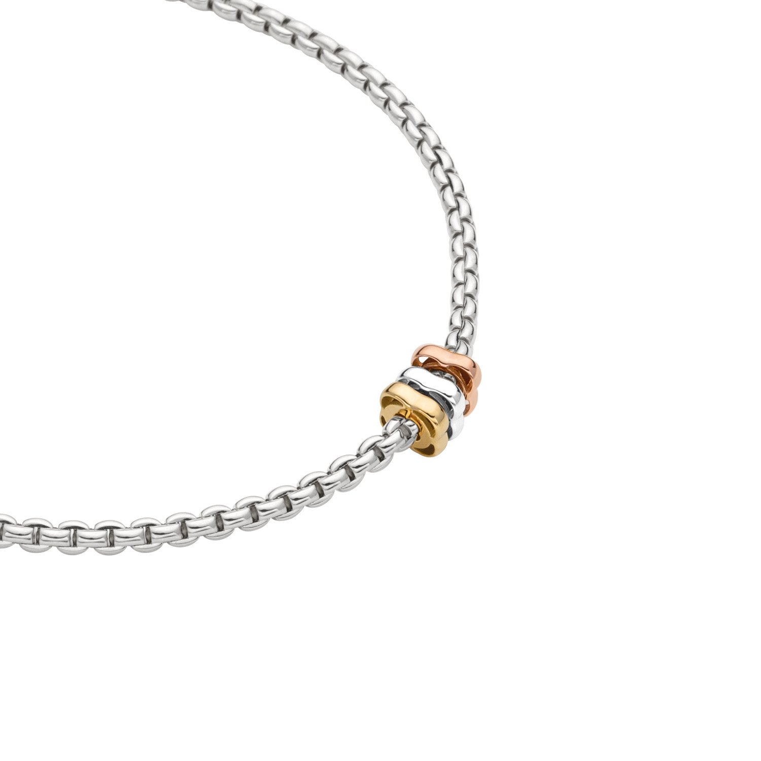 Fope Flex'it Tri Color Rondel Necklace