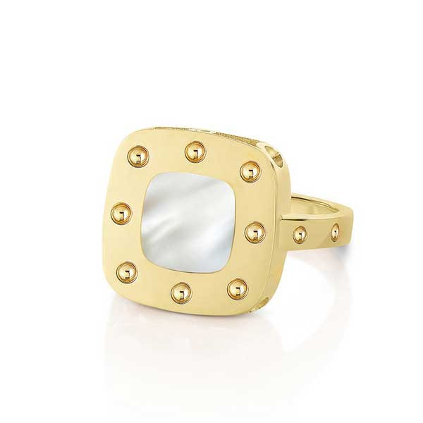 Roberto Coin Pois Moi Mother of Pearl Square Ring