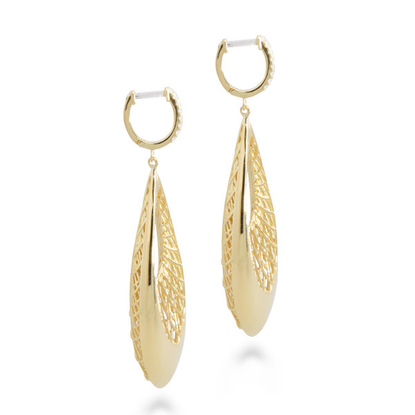 Roberto Coin Golden Gate Earrings Side View