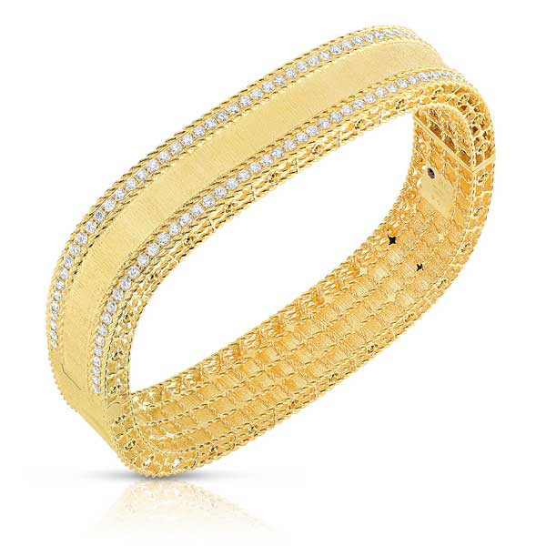 Roberto Coin Princess Two Row Diamond Bangle