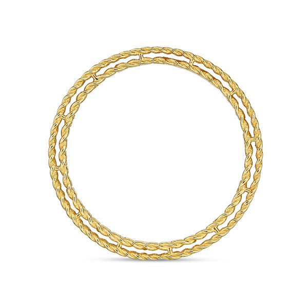 Roberto Coin Yellow Gold Symphony Princess Ring Side View