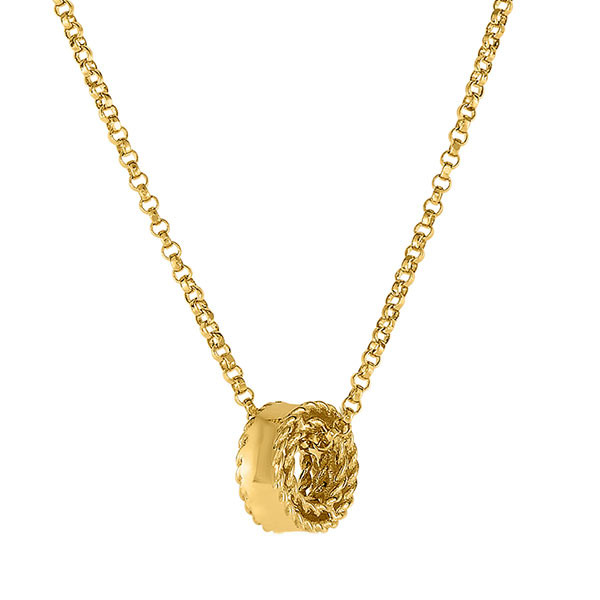 Roberto Coin Symphony Princess Yellow Gold Pendant Side View