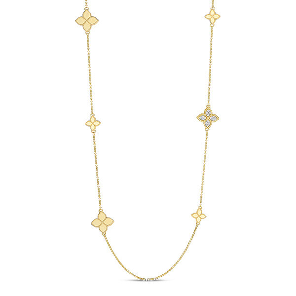Roberto Coin Princess Flower Station Diamond Necklace