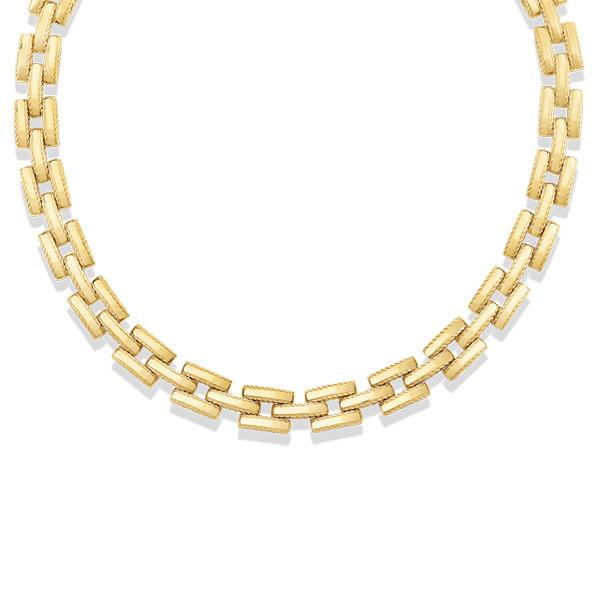 Roberto Coin Retro Gold Link Collar Necklace