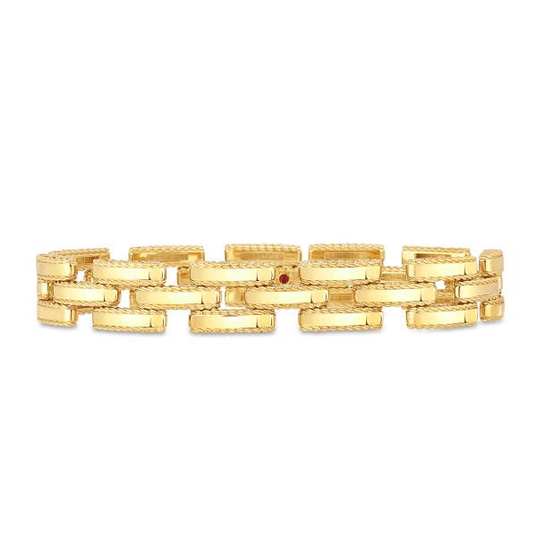 Roberto Coin Retro Gold Link Bracelet