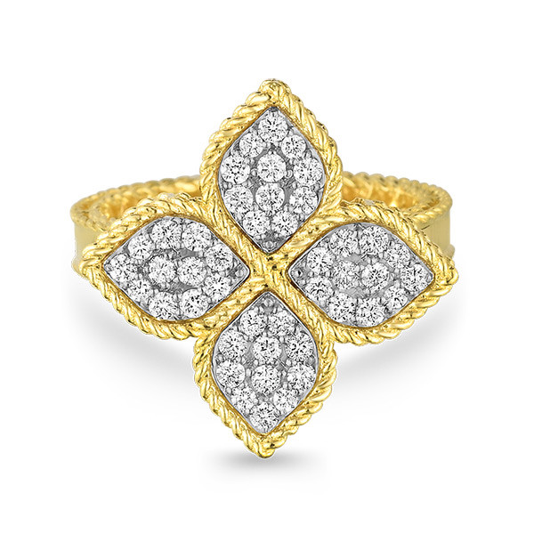 Roberto Coin Diamond Princess Flower Ring