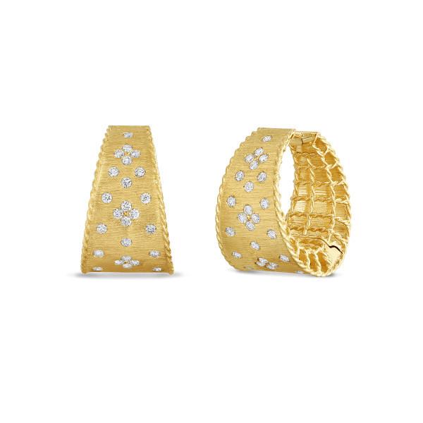Roberto Coin Princess Diamond Hoop Earrings