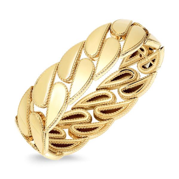 Roberto Coin Gourmette Link Bangle Bracelet