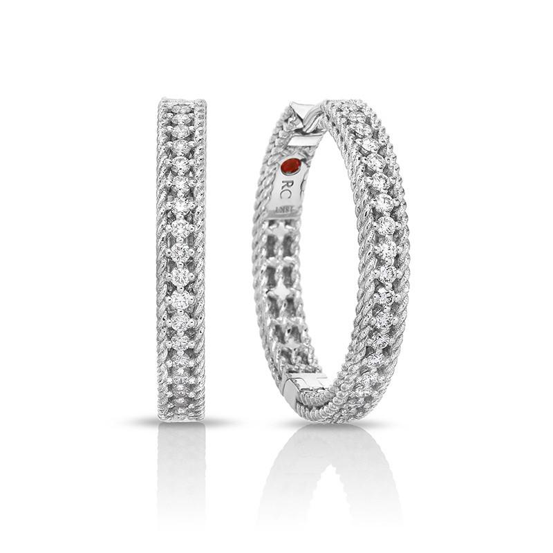 Roberto Coin Princess Diamond Hoop Symphony Earrings