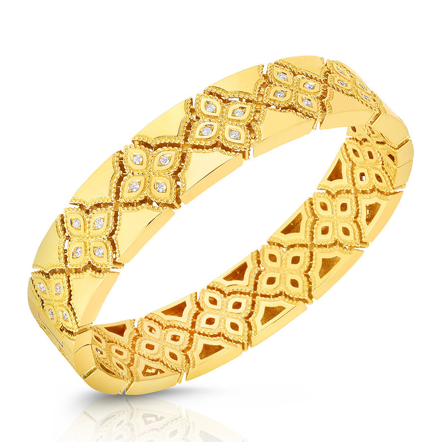 Roberto Coin Venetian Yellow Gold Princess Bangle Bracelet