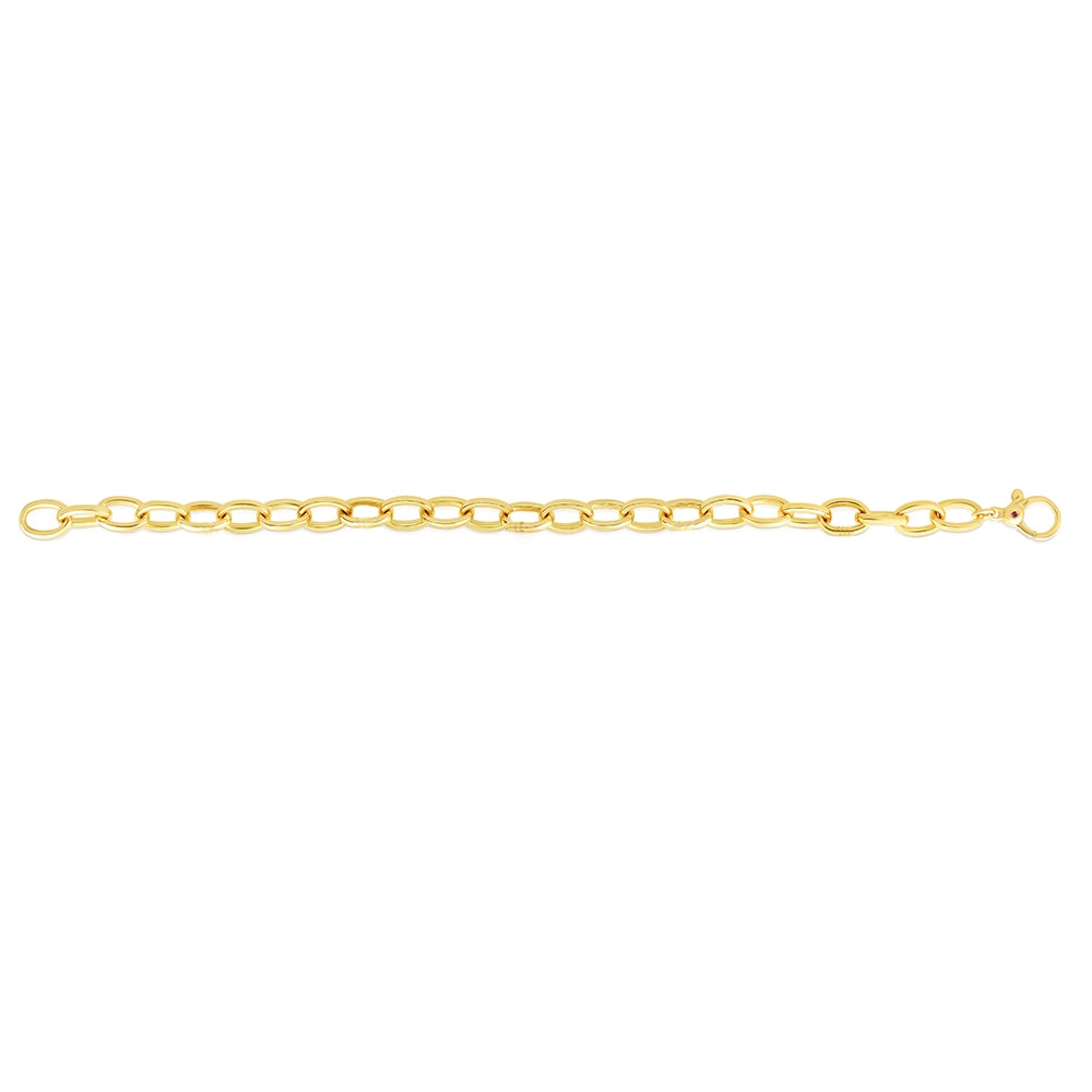 Roberto Coin Charm Bracelet in Yellow Gold Flat Lay