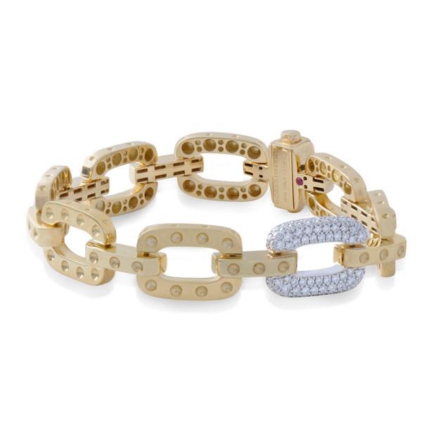 Roberto Coin Pois Moi Diamond Chain Link Bracelet