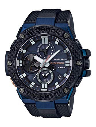 G-Shock G-Steel Black & Blue Carbon Fiber Bezel Connected Watch