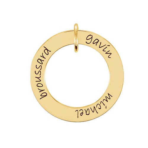 Posh Mommy Engravable Wee Loop Yellow Gold Chain