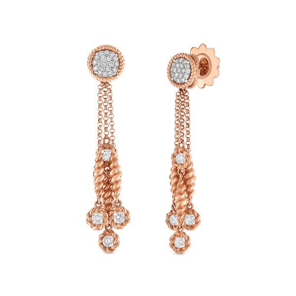 Roberto Coin New Barocco Diamond Dangle Earrings