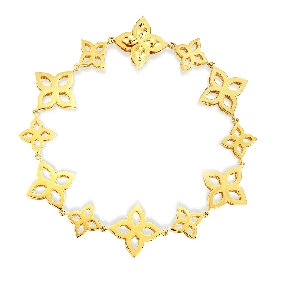Roberto Coin Yellow Gold Princess Flower Multi-Station Bracelet