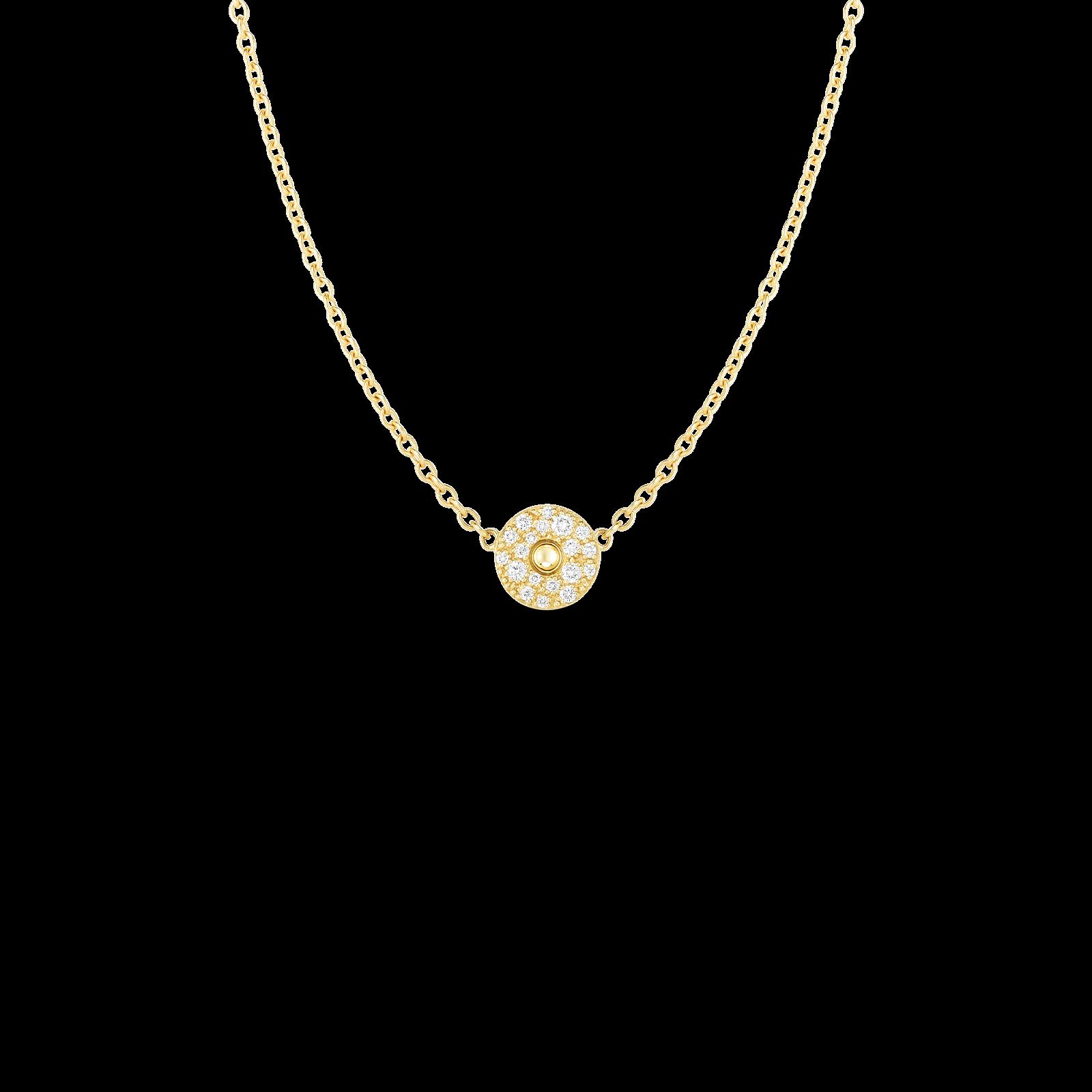 Roberto Coin Pois Moi Diamond Circle Necklace in 18K Gold