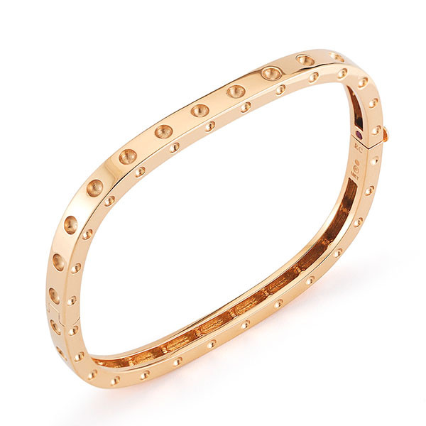 Roberto Coin Pois Moi Rose Gold Single Bangle Bracelet
