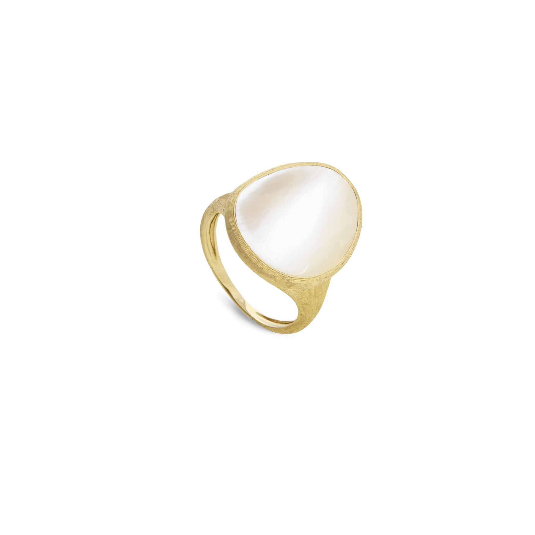 Marco Bicego Lunaria Medium Yellow Gold & Mother of Pearl Ring
