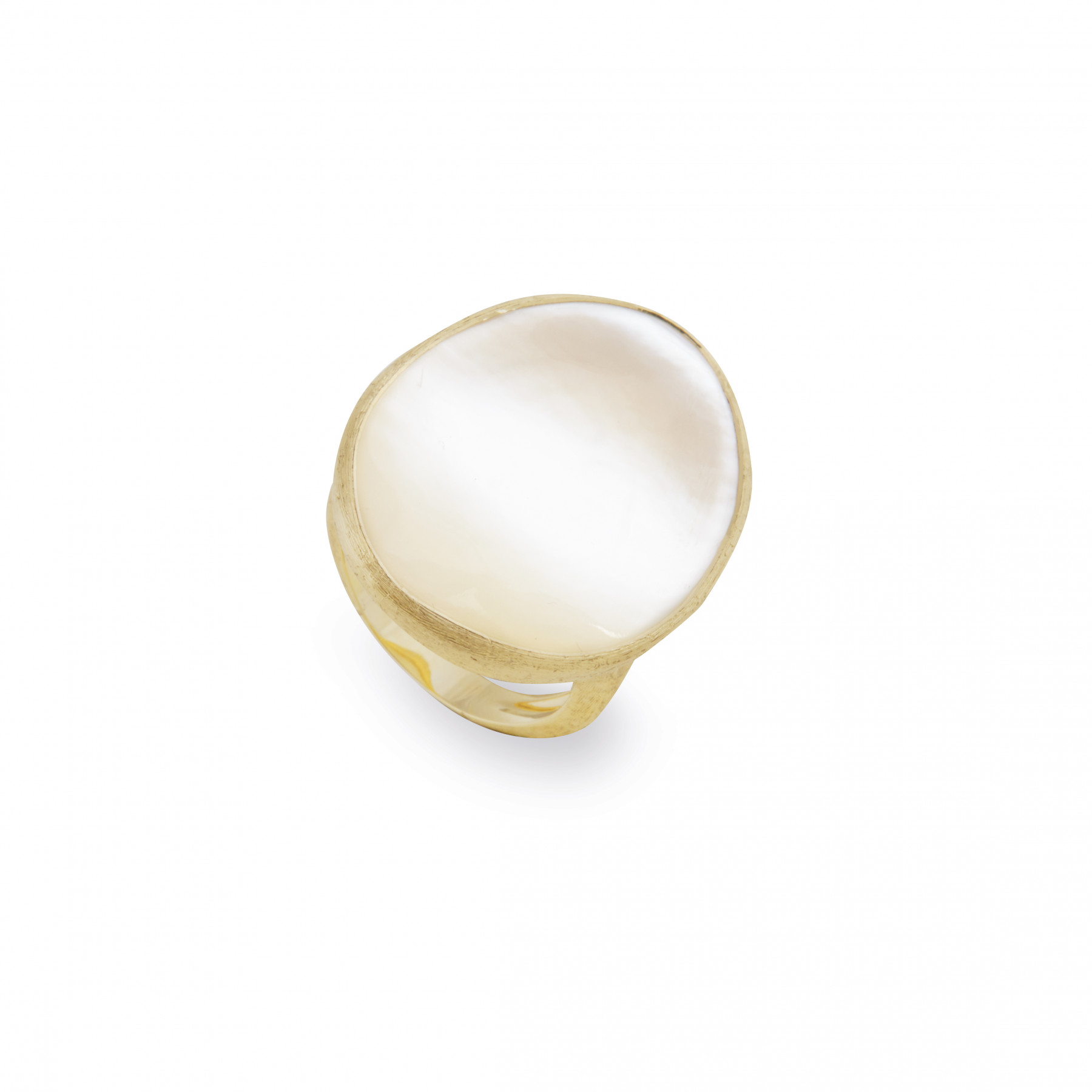 Marco Bicego Large White Mother of Pearl Lunaria Cocktail Ring