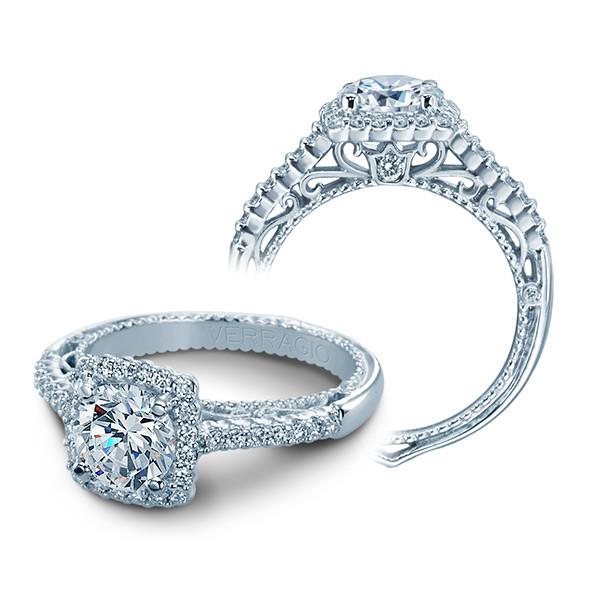 Verragio Venetian Square Halo Diamond Engagement Setting