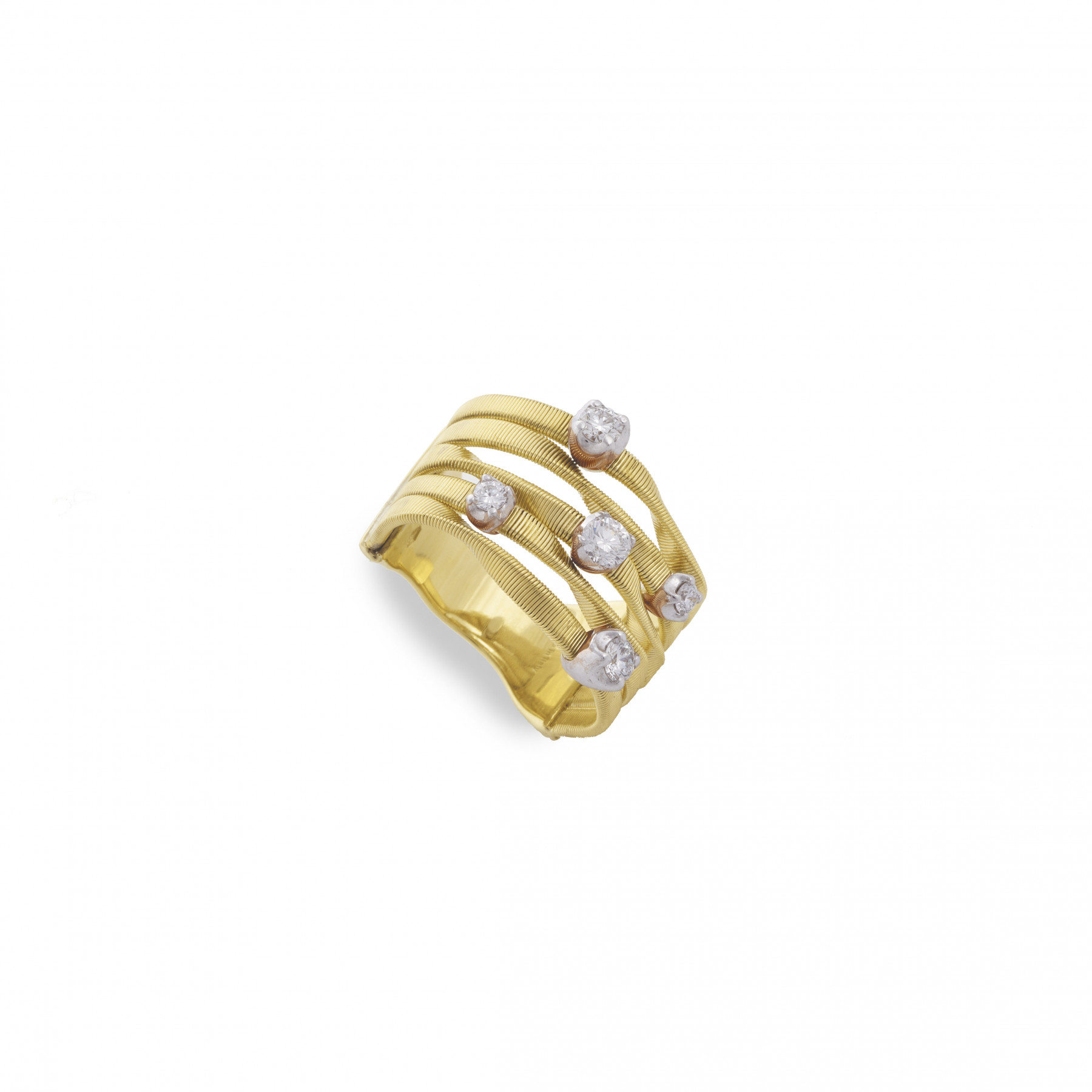 Marco Bicego Marrakech 5 Strand Yellow Gold Ring .25ctw