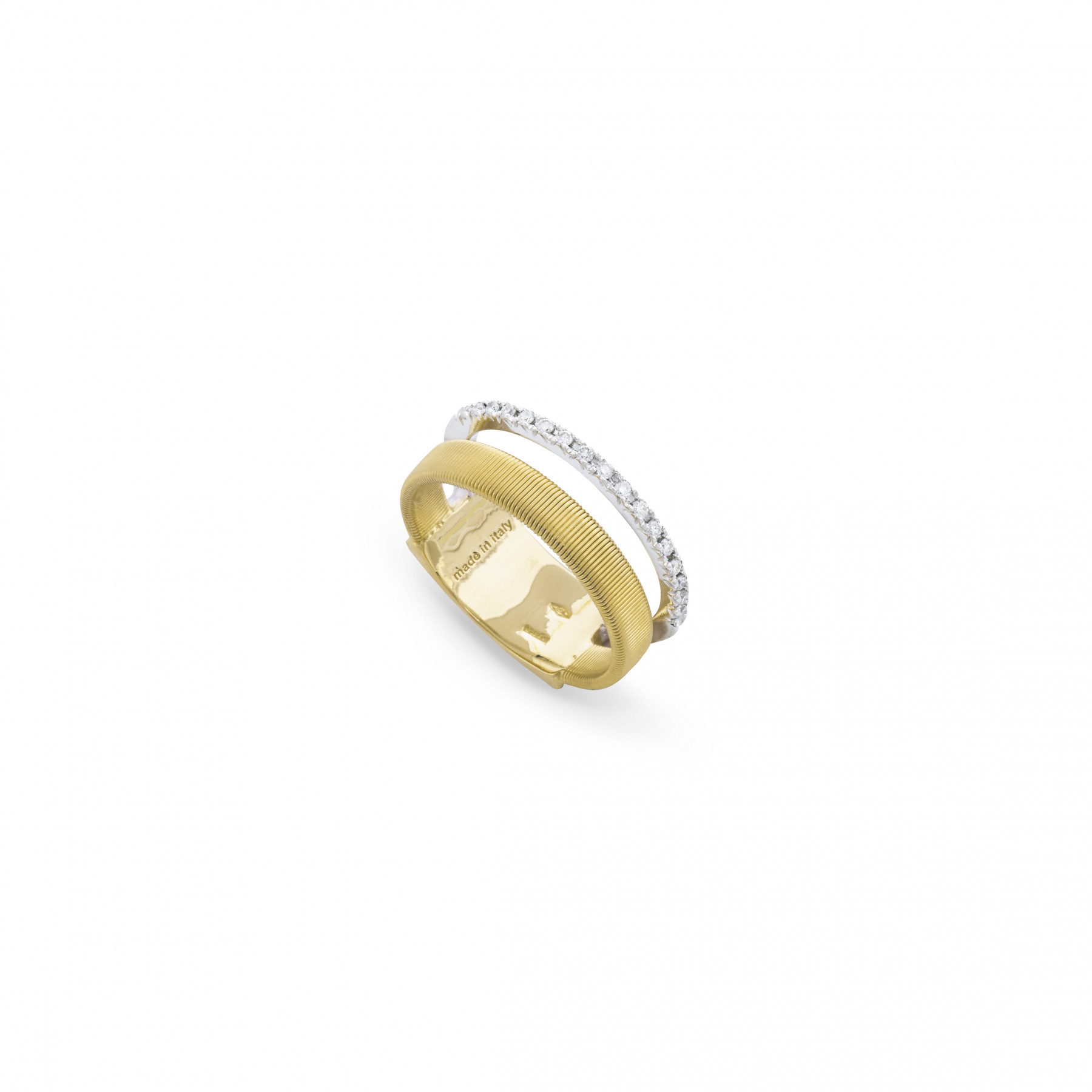 Marco Bicego Masai Double Row Pave Diamond Ring
