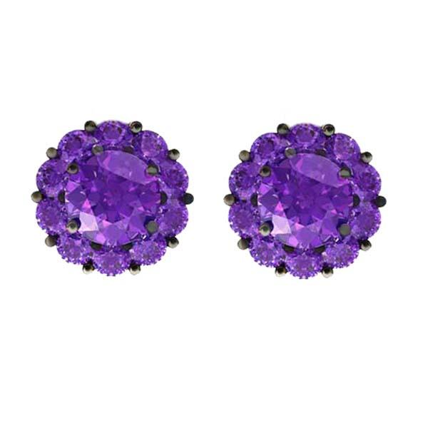 Color My Life Amethyst Stud Earrings