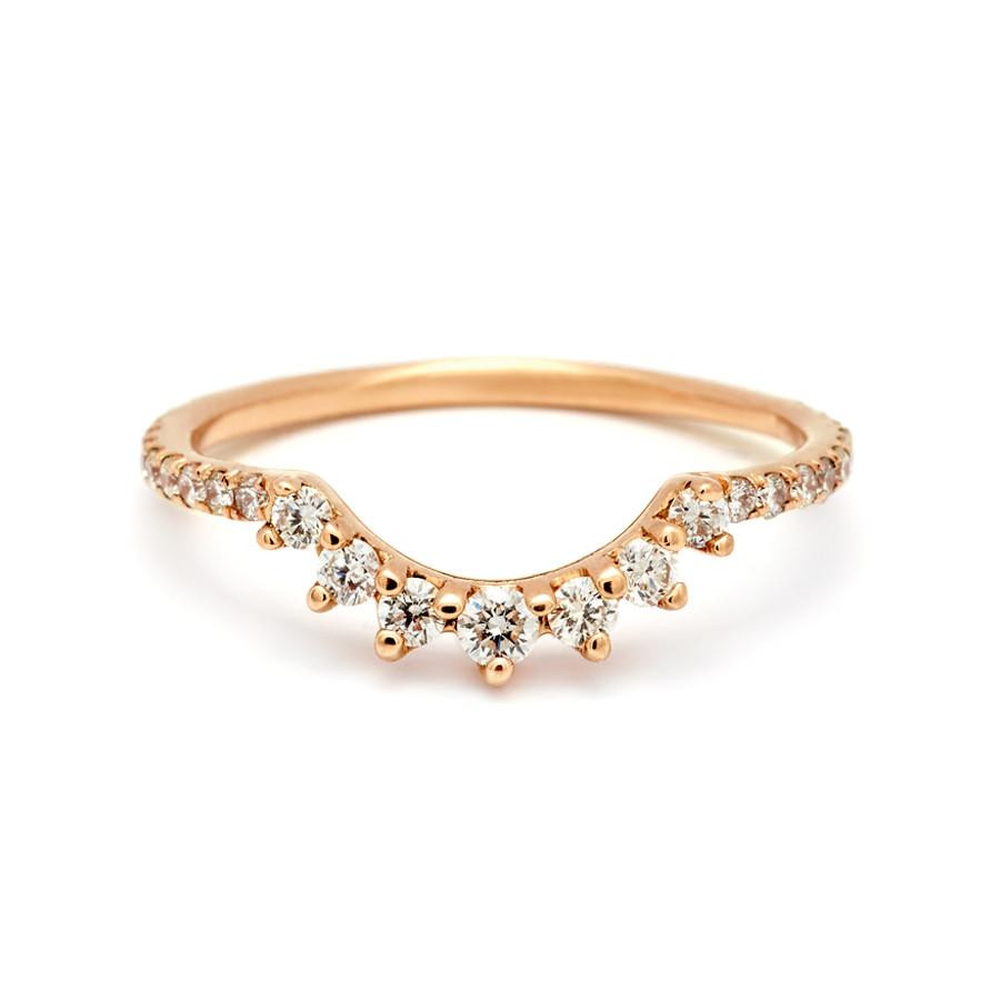Anna Sheffield Grand Tiara Diamond Pave Band in 14K Gold