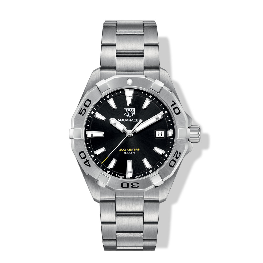 Tag Heuer Aquaracer 41mm Steel Watch with Black Dial