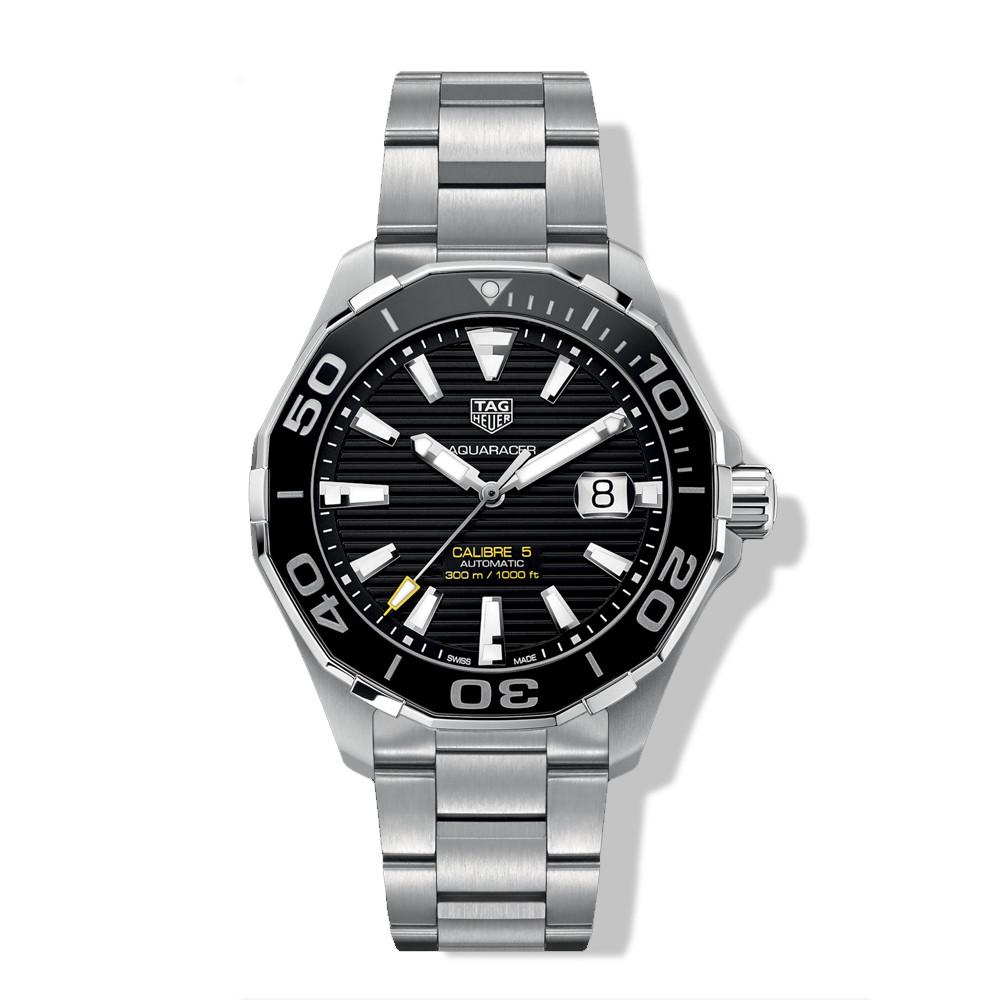 Tag Heuer Automatic Calibre 5 Black Dial Aquaracer Watch