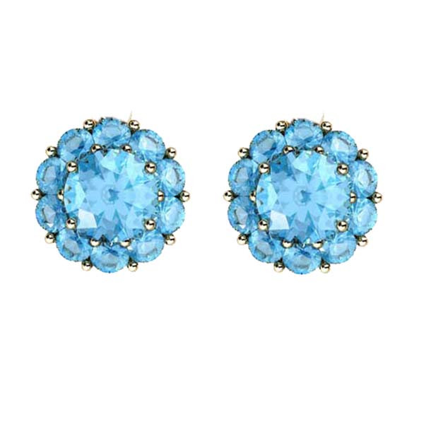 Color My Life Aqua Stud Earrings