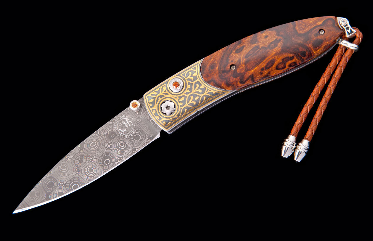 William Henry Monarch 24K Gold and Iron Pocket Knife open image