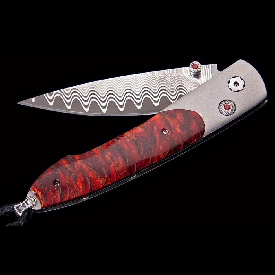 Lancet Scarlet Pine William Henry Pocket Knife