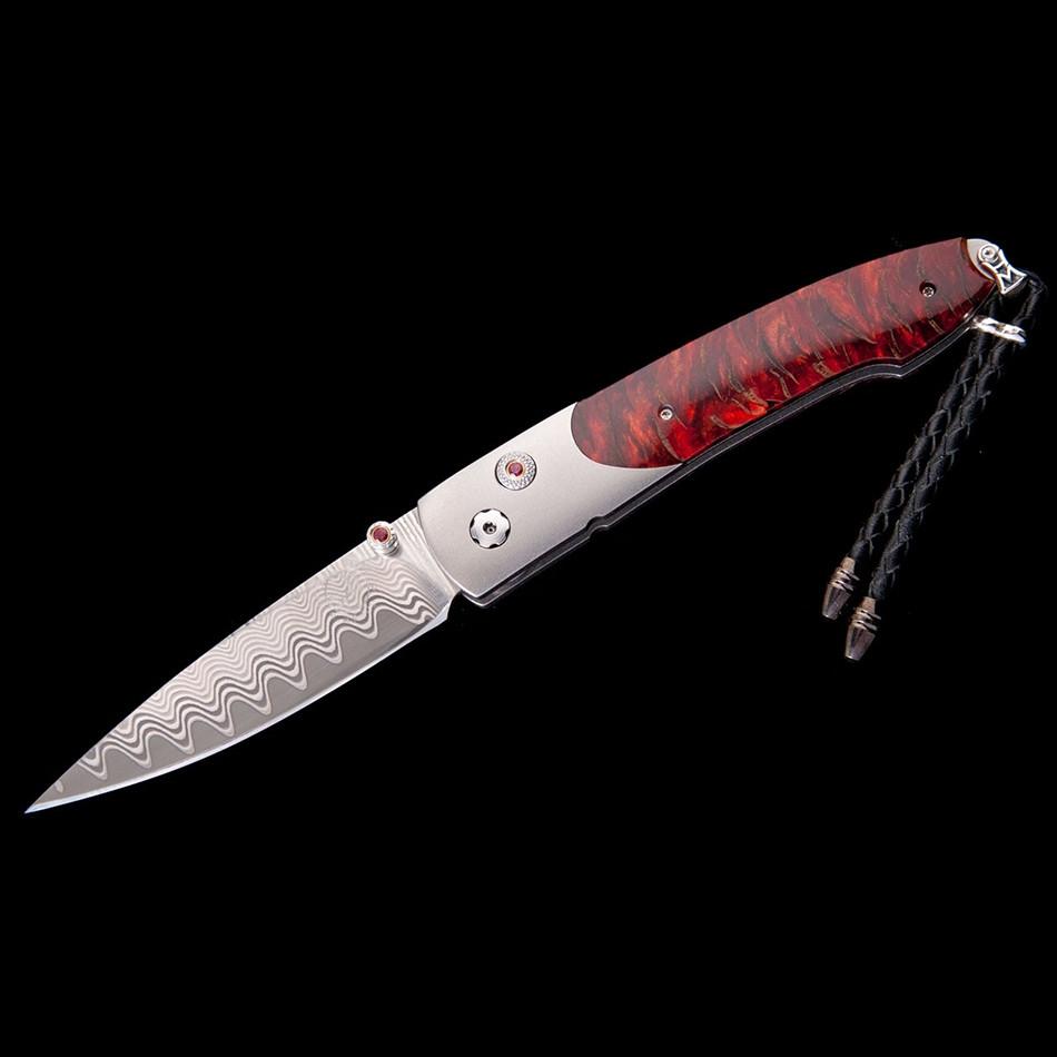 Lancet Scarlet Pine William Henry Opened Pocket Knife