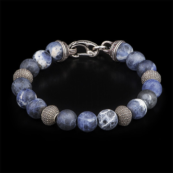 William Henry Beach Comber Silver Bead Bracelet Angle 1 View