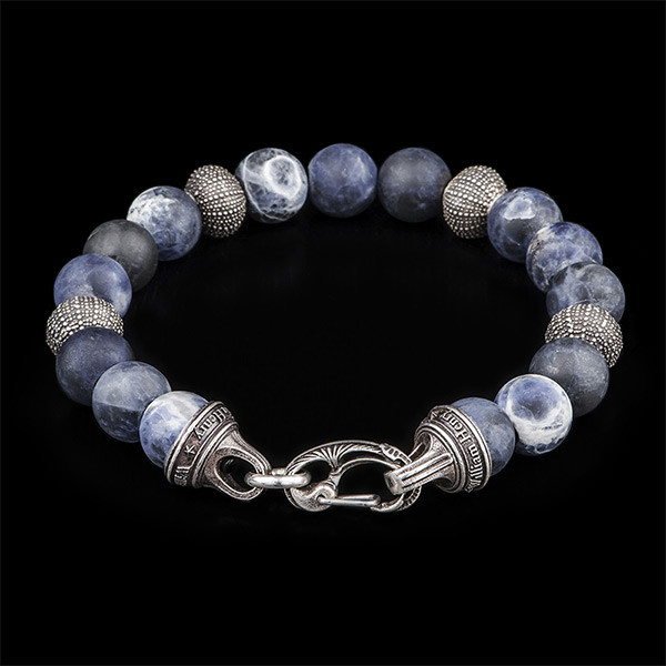 William Henry Beach Comber Silver Bead Bracelet Angle 2 View