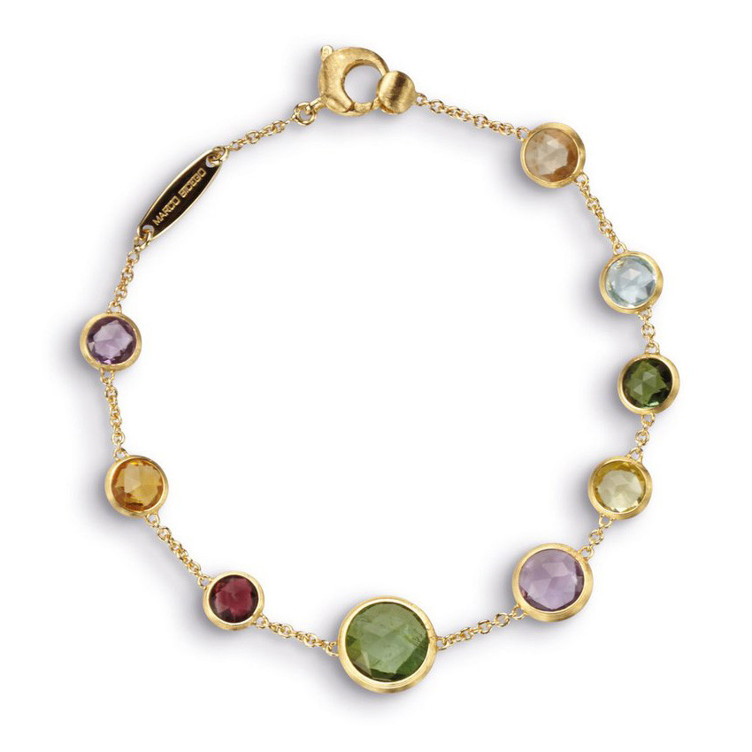 Marco Bicego Yellow Gold & Mixed Gemstones Jaipur Strand Bracelet