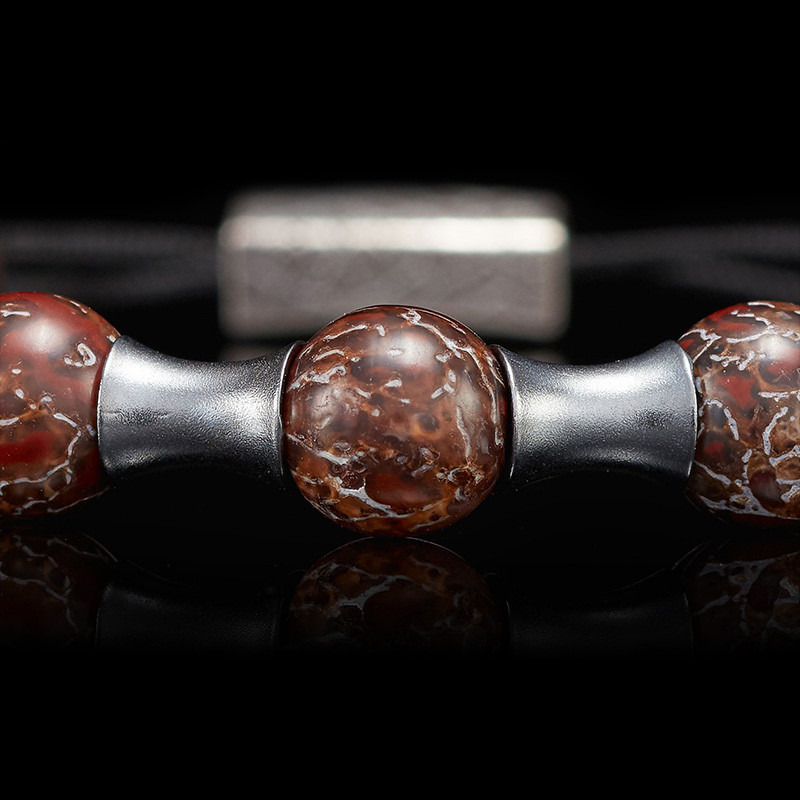 William Henry Adjustable Bead Dino Zenith Bracelet Bead Close-Up